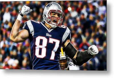 Rob Gronkowski Collection Metal Print by Marvin Blaine