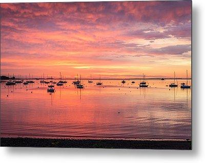 Rockland Harbor Sunrise Metal Print by Tim Sullivan