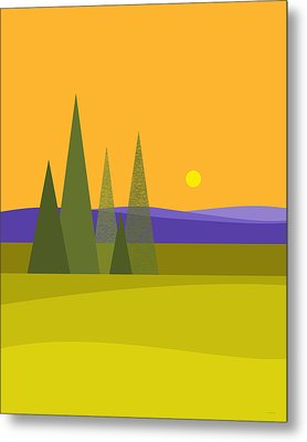 Metal Print featuring the digital art Rolling Hills by Val Arie