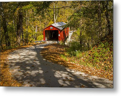 Rollingstone Covered Bridge  Metal Print by Jack R Perry