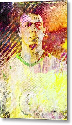 Metal Print featuring the mixed media Ronaldo by Svelby Art