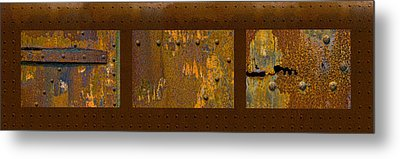 Rust Triptych Metal Print by Gary LaComa