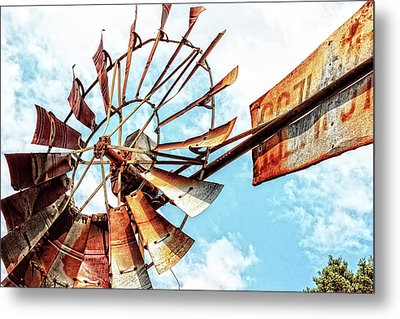 Rusted Windmill Metal Print