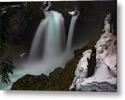 Metal Print featuring the photograph Sahalie Falls by Cat Connor