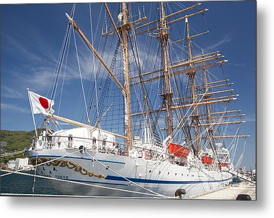 Metal Print featuring the photograph Sail Training Ship Nippon Maru by Aiolos Greek Collections