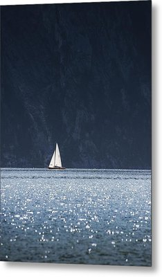 Metal Print featuring the photograph Sailboat by Chevy Fleet