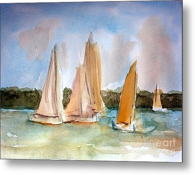 Sailing  Metal Print by Julie Lueders