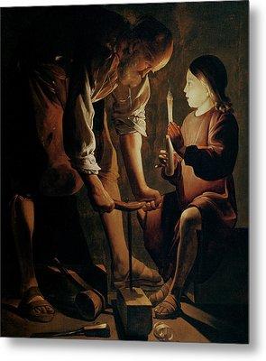 Saint Joseph The Carpenter  Metal Print