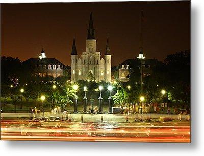 Saint Louis Cathedral In New Orleans Metal Print