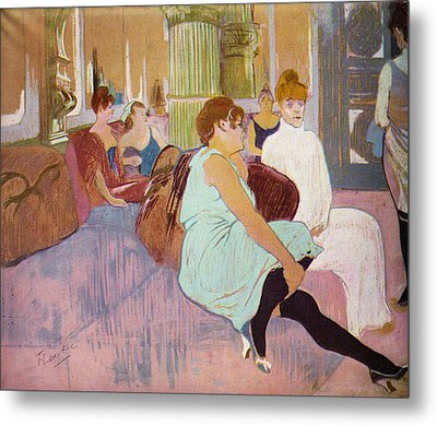 Salon In The Rue Des Moulins  Metal Print by Toulouse Lautrec