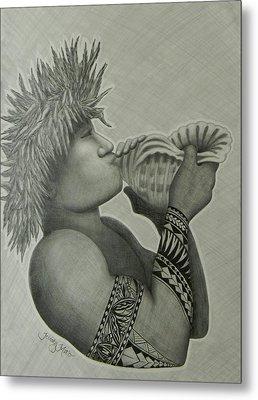 Samoan Taulima Metal Print by Kristy Mao