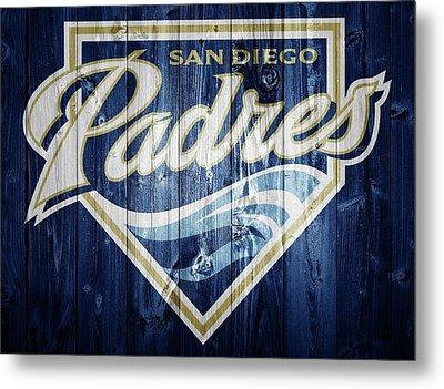 San Diego Padres Barn Door Metal Print by Dan Sproul