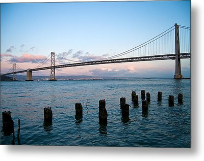 San Francisco Bay Bridge Metal Print by Mandy Wiltse