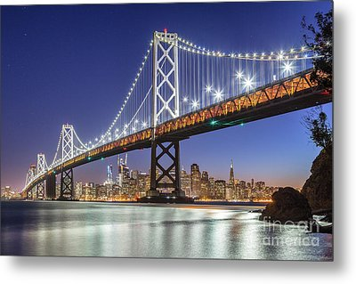 San Francisco City Lights Metal Print by JR Photography