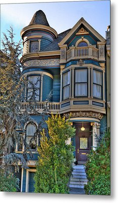 San Francisco Victorian Metal Print by Paul Owen