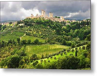 San Gimignano Tuscany Italy Metal Print