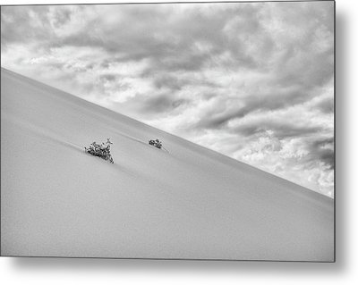 Metal Print featuring the photograph Sand And Clouds by Hitendra SINKAR