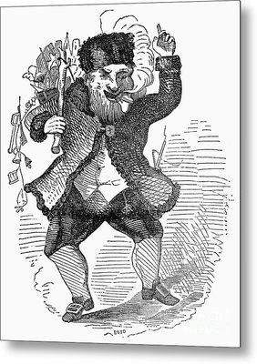 Santa Claus, 1849 Metal Print by Granger