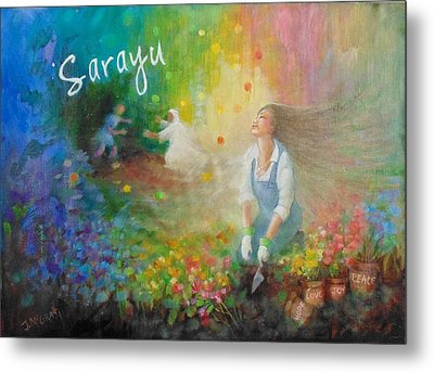 Sarayu Metal Print by Janet McGrath