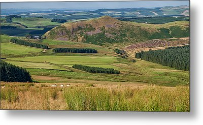 Scotland View From The English Borders Metal Print by Jeremy Lavender Photography