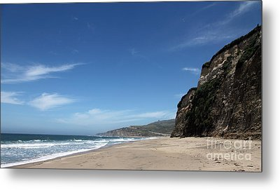 Scott Creek Beach California Usa Metal Print by Amanda Barcon