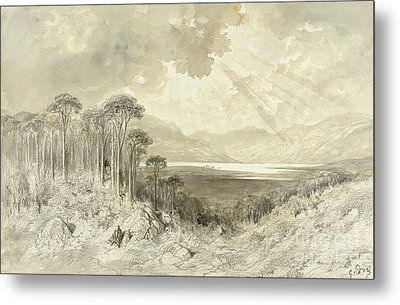 Scottish Landscape Metal Print by Gustave Dore