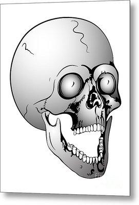 Screaming Skull Metal Print by Michal Boubin