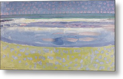 Sea After Sunset Metal Print by Piet Mondrian