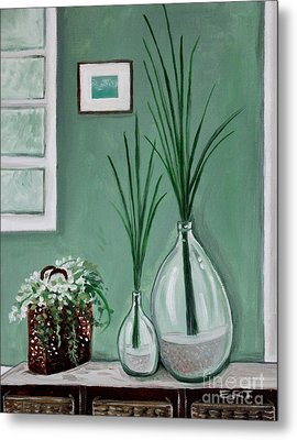 Metal Print featuring the painting Sea Grass by Elizabeth Robinette Tyndall