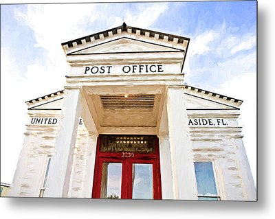 Seaside Post Office Metal Print by Scott Pellegrin