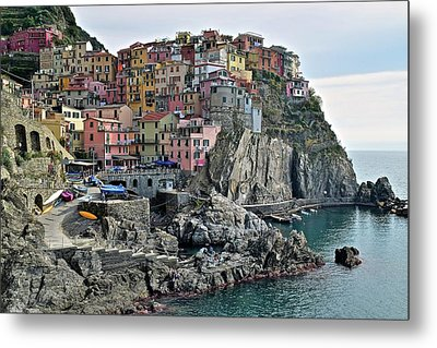 Metal Print featuring the photograph Seaside Village by Frozen in Time Fine Art Photography