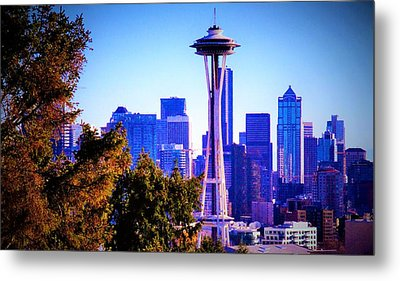 Seattle Afternoon Metal Print by Martin Cline