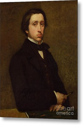 Self Portrait Metal Print by Edgar Degas
