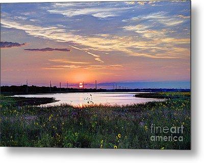September Sunrise Over The Baker Wetlands Metal Print