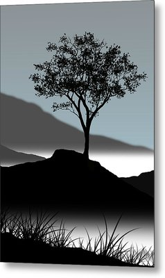 Serene Metal Print by Chris Brannen