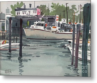 Shark River Inlet Metal Print by Donald Maier