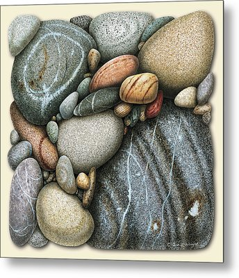 Shore Stones 3 Metal Print by JQ Licensing