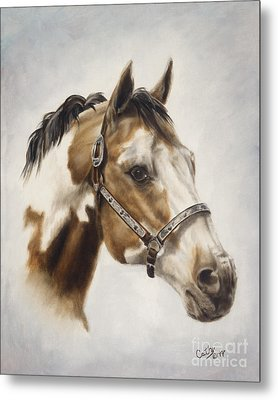 Metal Print featuring the painting Show Off by Cathy Cleveland