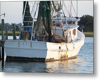 Shrimp Boat Metal Print by Dustin K Ryan
