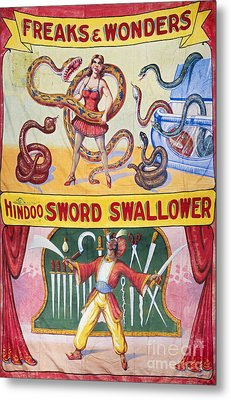 Sideshow Poster, C1975 Metal Print by Granger