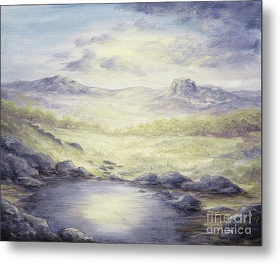 Metal Print featuring the painting Silence by Cathy Cleveland