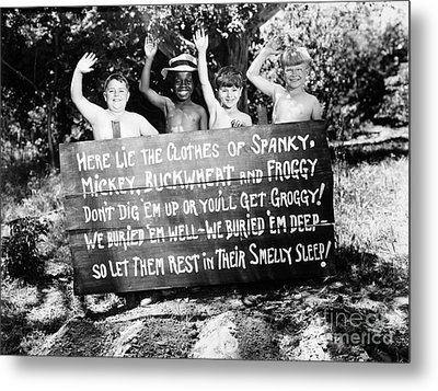 Silent Film: Little Rascals Metal Print by Granger