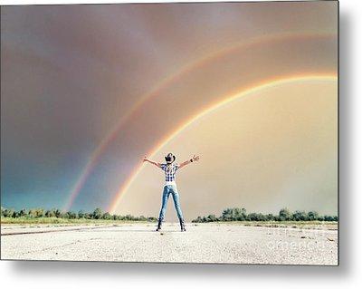 Sing Me A Rainbow Metal Print by Evelina Kremsdorf