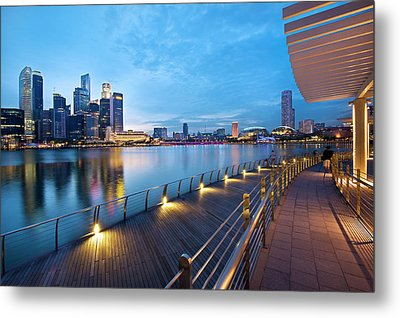 Singapore - Marina Bay Metal Print