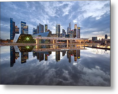 Singapore Cityscape Metal Print