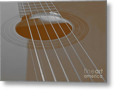 Six Guitar Strings Metal Print