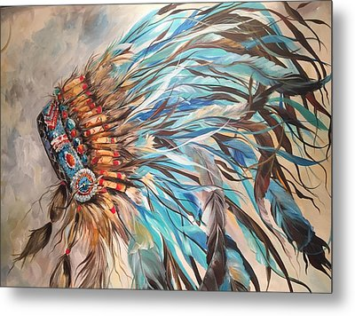 Sky Feather Metal Print