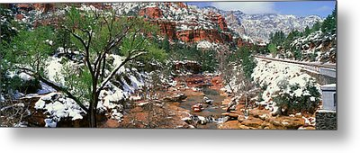 Slide Rock Creek In Wintertime, Sedona Metal Print
