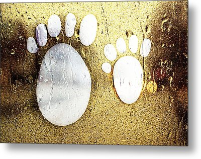 Small Feet And Big Feet 22 Metal Print by Jean Francois Gil