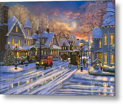 Small Town Christmas Metal Print by Dominic Davison